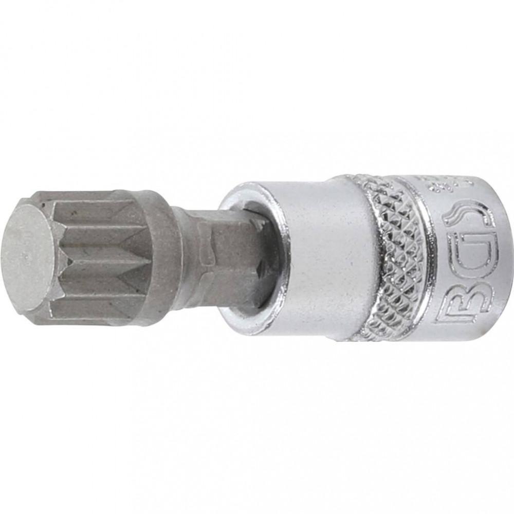 "BGS technic Hlavica - bit | 6.3 mm (1/4"") drive | Tisíchran (pre XZN) M10 (BGS 2506)"